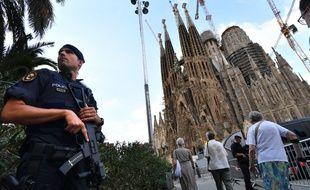 Le 20 août 2017, devant la Sagrada Familia à Barcelone, avant la cérémonie en mémoire aux victimes des attentats en Catalogne.