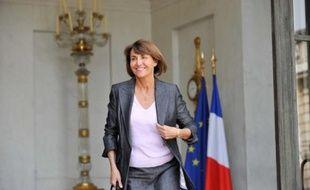 Christine Albanel, la ministre de la Culture et de la Communication, sortant de l'Elysée le 17 juin 2009