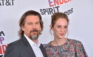 L'acteur Ethan Hawke et sa fille, l'actrice Maya Hawke