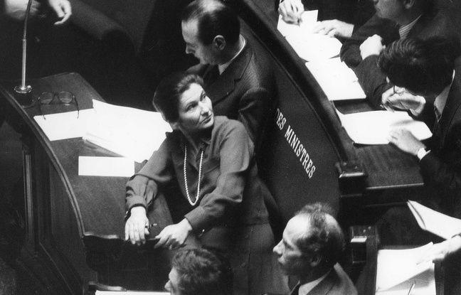 Simone Veil lors des débats pour le droit à l'avortement à l'Assemblée nationale.