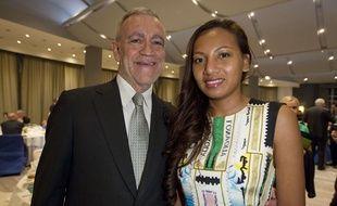Le maire sortant de Beausoleil Gérard Spinelli, ici avec son épouse