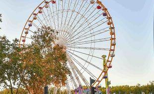 La grande roue place des Quinconces à Bordeaux.