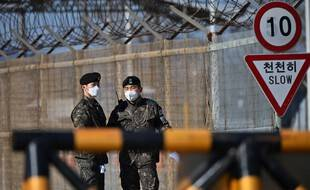 Des soldats sud-coréens à la frontière avec la Corée du Nord. (archives)