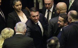 Jair Bolsonaro, le nouveau président brésilien, le 1er janvier, jour de son investiture.