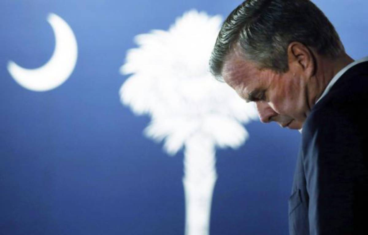 Jeb Bush lors d'un meeting électoral à Beaufort, Caroline du sud le 16 février 2016 – SPENCER PLATT GETTY IMAGES NORTH AMERICA