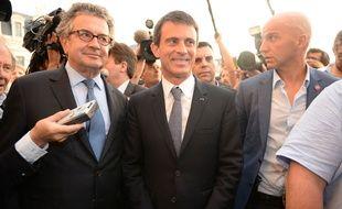 Le Premier ministre Manuel Valls, lors de son arrivée à Poitiers (Viennes) ,le 5 juin 2015.