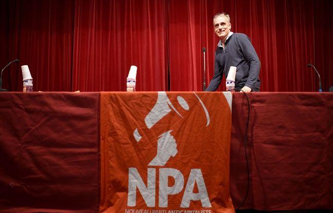 Philippe Poutou en meeting pour le NPA à Besançon le 28 mars 2017.