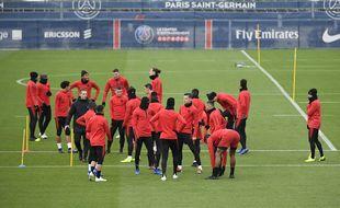 Le PSG  à l'entraînement au Camp des Loges