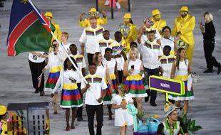 Jonas Junias Jonas était le porte-drapeau de la Namibie