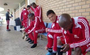 Les jeunes joueurs du club de l'Ajax Cape Town, en Afrique du sud, le 5 juillet 2010.