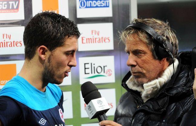 Laurent Paganelli (à d.) avec l'ancien Lillois Eden Hazard, en décembre 2011.