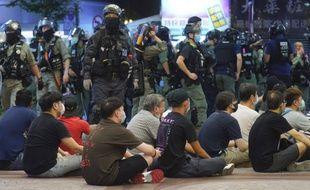Une manifestation à Hong Kong, le 1er juillet 2020.