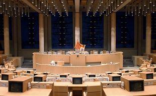 L'hémicycle du Conseil régional de Provence-Alpes-Côte d'Azur.