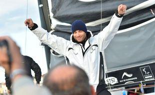 Fabrice Amedeo au départ du Vendée Globe