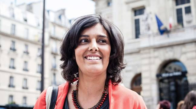 Myriam El Khomri, photographiée le mardi 13 juin, dans la 18e circonscription de Paris. – Tristan Reynaud/SIPA