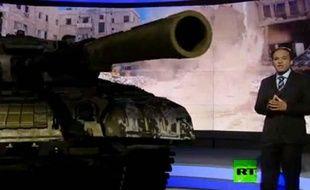 Capture d'écran d'une vidéo du site Gentside.com qui montre un JT russe en 3 D, le 21 juin 2013.