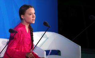 Greta Thunberg au sommet Action climat à l'Onu le 23 septembre 2019 à New York.