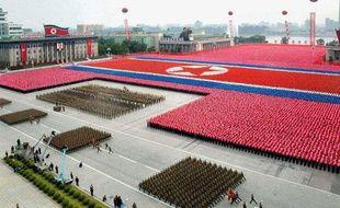 Parade militaire à Pyongyang, en Corée du Nord, le 9 septembre 2011.