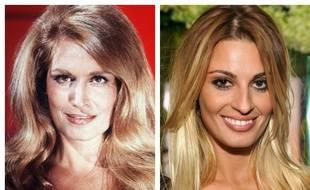 Dalida et l'actrice Sveva Alviti qui incarne la chanteuse dans un biopic.