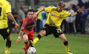 Mathieu Valbuena, le 28 septembre 2011 à Marseille contre Dortmund.