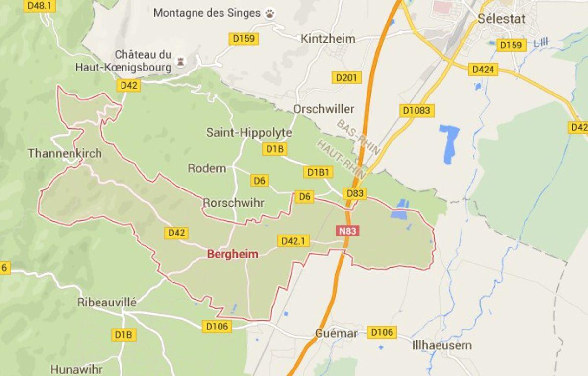 Bergheim. Google Maps. Capture d'écran. – Google Maps