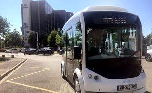 Cristal, nouveau système de transport bi modal et électrique. Strasbourg le 19 06 2017.