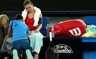 Simona Halep lors de la finale de l'Open d'Australie