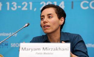 La mathématicienne Maryam Mirzakhani, ici en août 2014, est décédée samedi 15 juillet à l'âge de 40 ans des suites d'un cancer.