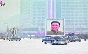 Les funérailles de Kim Jong-il, le 28 décembre 2011, à Pyongyang (Corée du Nord).