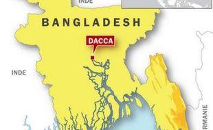 Carte de localisation du Bangladesh.