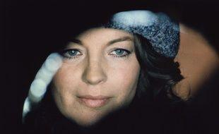 Romy Schneider sur le tournage de «Fantôme d'amour» en Italie en 1981.