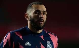 Karim Benzema avec le Real Madrid, en mai 2021.