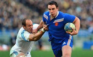Le troisième ligne du XV de France Louis Picamoles lors du match contre l'Italie le dimanche 3 février 2013.