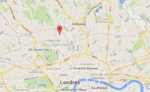 Le quartier de Kentish Town, à Londres (Royaume-Uni).