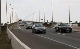 Une troisième voie sera créée sur le pont de Cheviré (sens nord-sud).