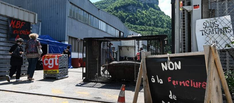 A l'usine MBF Aluminium, le 10 juin dernier.