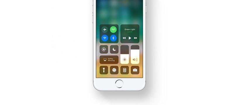 Le centre de contrôle de l'iphone avec iOS11.