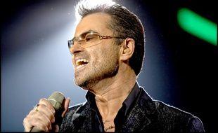 Le chanteur George Michael en concert à Stuttgart en 2006