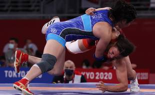 La lutteuse Koumba Larroque a été battue dès son entrée en lice aux JO de Tokyo.
