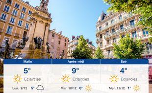 Météo Grenoble: Prévisions du dimanche 8 décembre 2019