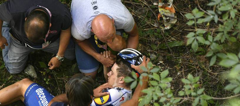Remco Evenepoel a lourdement chuté lors du Tour de Lombardie, le 15 août 2020, se fracturant le bassin.