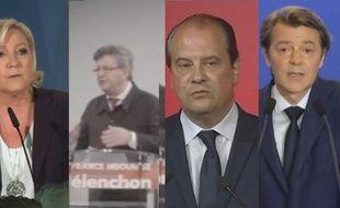 Mélenchon, Le Pen, Cambadélis... Écoutez les réactions des candidats.