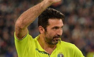 Gigi Buffon lors d'un match caritatif, le 29 mai 2019.