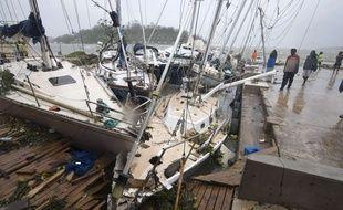 A Port Vila, au Vanuatu, le 14 mars 2015, après le passage du cyclone Pam.