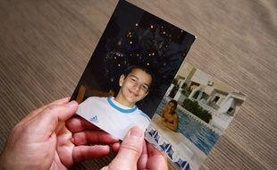 Patrice Durgeon présente des photos de son fils David