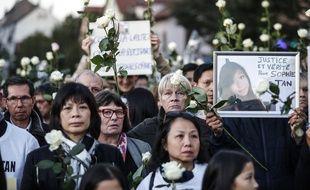 Une marche blanche pour Sophie Le Tan à Schiltigheim, le 29 septembre 2018.
