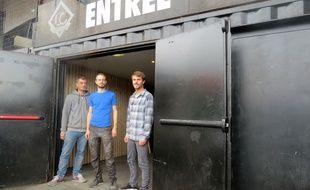 Philippe Bernard, Simon Boisson et Quentin Schneider, trois des quatres nouveaux gérants du lieu