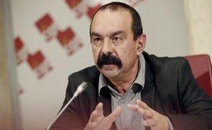 Philippe Martinez lors d'une conférence de press le 14 janvier 2015 à Paris