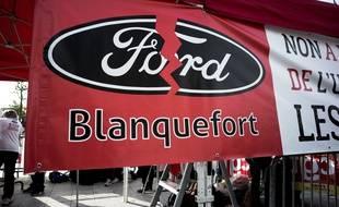 Lors d'un mouvement des salariés de l'usine Ford de Blanquefort.