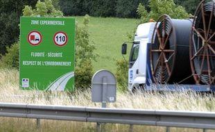 Des tests pour limiter la vitesse des poids-lourds sur autoroute avaient été lancés en 2009 sur certaine